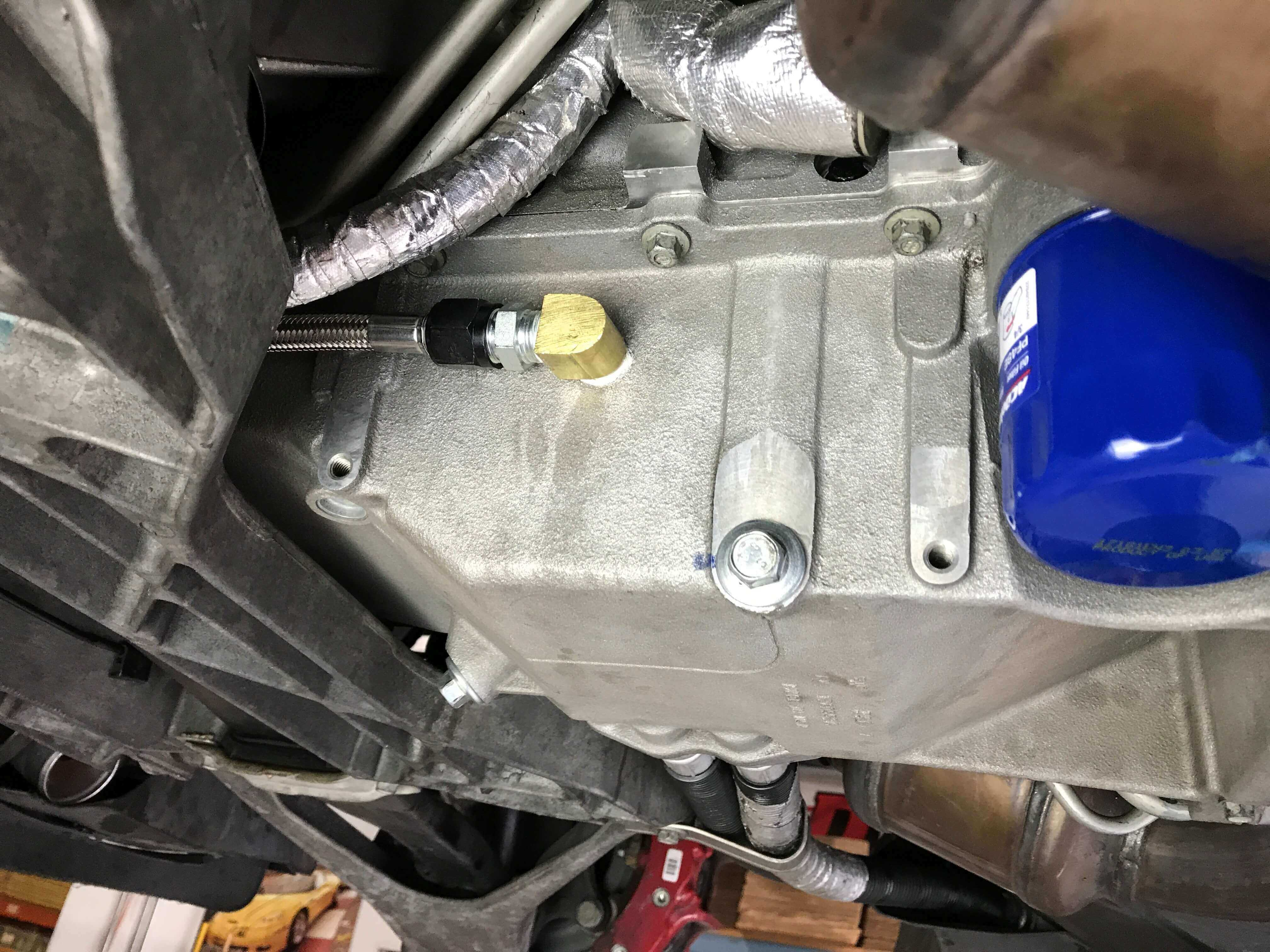 C6 Supercharger Installation Fuse Diagram Oil Drain Fitting Installed In Pan Z06